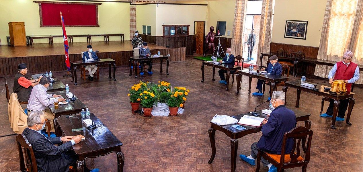 नेकपा सचिवालय बैठक बालुवाटारमै,सुरक्षाका कारण धुम्बाराहीमा बैठक राख्न नसकिने
