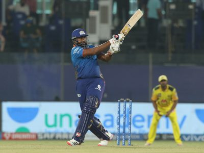 MI claimed their second victory after beating CSK by 4 wickets