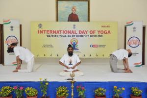 भारतीय राजदूतावासले सातौं अन्तर्राष्ट्रिय योग दिवसको आयोजना