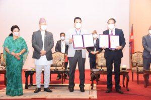 काठमाडौँ महानगर र नेपाल विज्ञान तथा प्रज्ञा प्रतिष्ठानविच सम्झौता